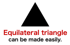 How to create 【an perfect equilateral triangle】 shape in Keynote