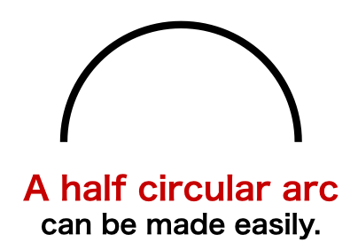 How to create【 a perfect half circular arc 】 in Keynote