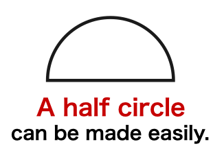 How to create【 a perfect half circle 】shape in Keynote
