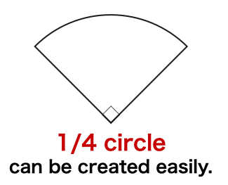 How to create【 a perfect quarter (1/4) circle 】shape in Keynote